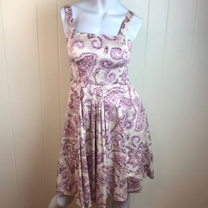 Loft Beige Purple Pink Summer Sun Dress